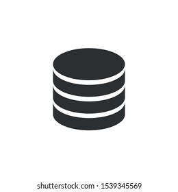 Black Database, the application icon - Vector