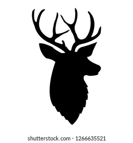 black deer silhouette