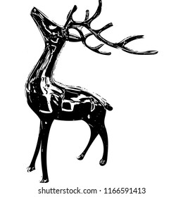 Black deer statue (vector), Russia