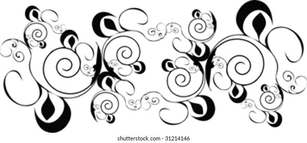 black design ornament isolated on white