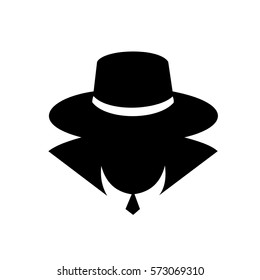 Black detective icon vector