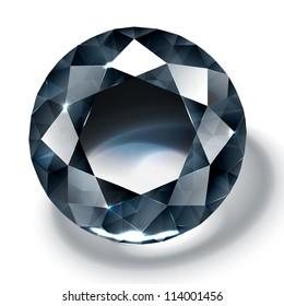 Black diamond realistic illustration