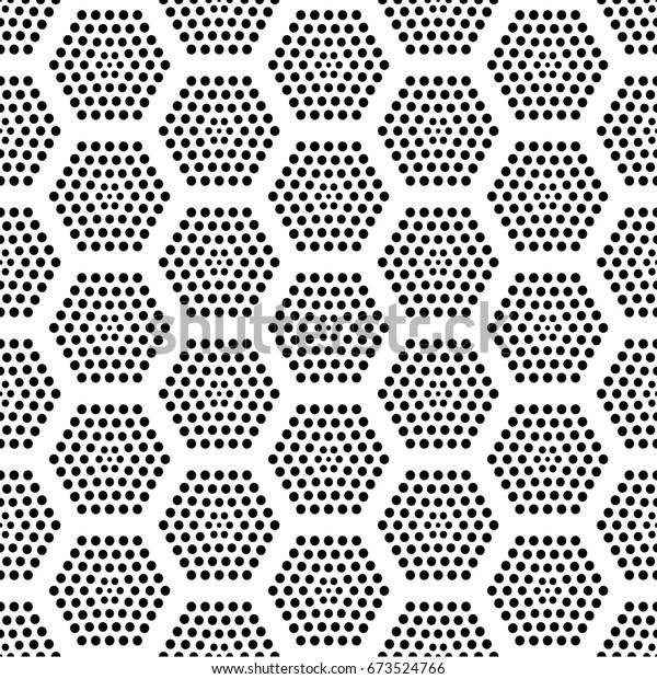 Black Dot Octagonal Pattern Any Background Stock Vector (Royalty