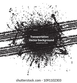 Black dotted ink splash with sample text on white background