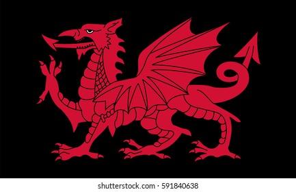 Black Dragon flag by Welsh.