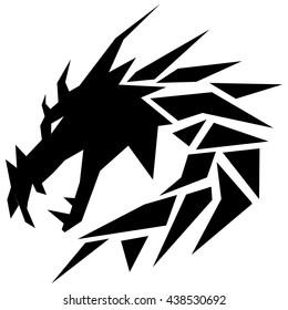 black dragon low poly icon