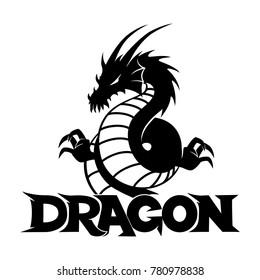 Black dragon sign.