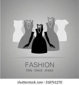 Dress code formal attire man black stock vector royalty free black dress classic fashion template logo for a clothing store womens boutique brand maxwellsz