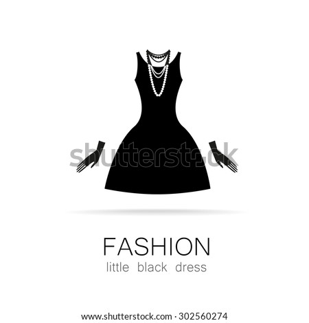 Black dress classic fashion template logo stock vector royalty free black dress classic fashion template logo for a clothing store womens boutique brand maxwellsz