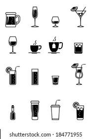 Black drinks icon