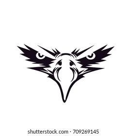 black eagle face