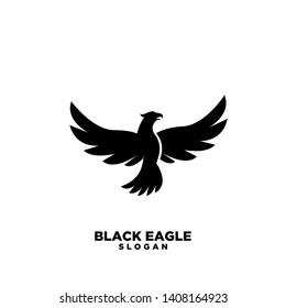 black eagle logo icon design vector illustration