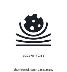 black eccentricity isolated vector icon. simple element illustration from astronomy concept vector icons. eccentricity editable black logo symbol design on white background. can be use for web and