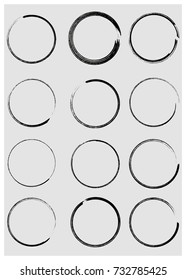 Black enso zen circle on background. Vector illustration. - stock vector