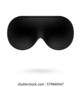 Black eye sleep mask vector illustration