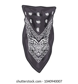 Black face bandana