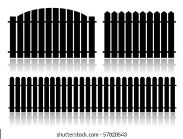 Black fence isolated on white (vector)