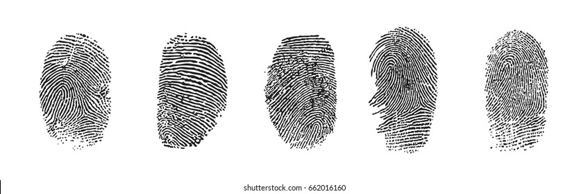 black fingerprints, vector