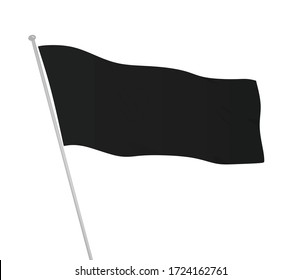 Black flag template. vector illustration