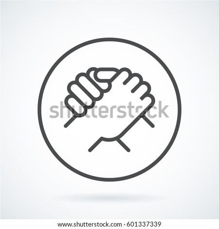 Black Flat Simple Icon Style Line Stock Vector Royalty Free