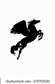 black flying horse