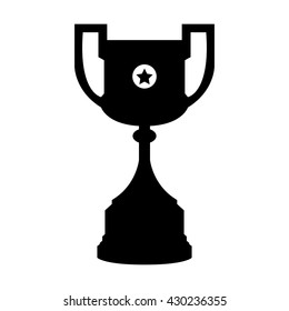 Black Football Cup Champions Trophy Vector