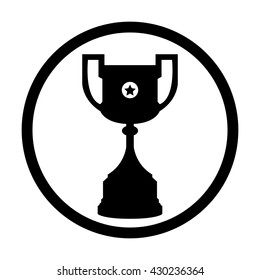 Black Football Cup Tournament Trophy Vector