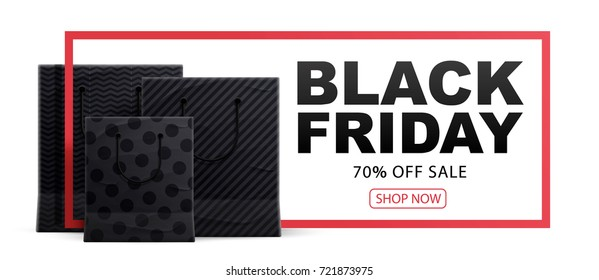 black friday 2017 shopping bags place for text 2018