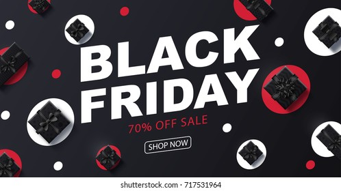black Friday 2018 place for text christmas boxes top view design 2019