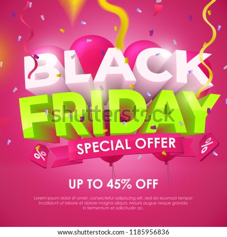 black friday 2018 sale banner template stock vector royalty free
