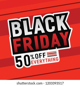 black friday 50off template design