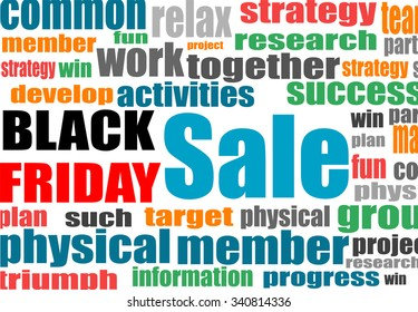 Black friday. Background with social network keywords. Vector illustration.