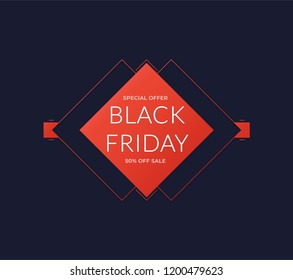 Black Friday banner. Abstract vector black friday sale background.