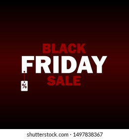 Black friday banner, card, poster. Vector Illustrator 10 EPS.