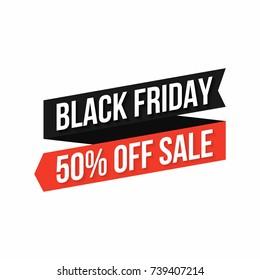 Black friday banner. Discount sticker, black friday design element for banner, poster, flyer. Vector
