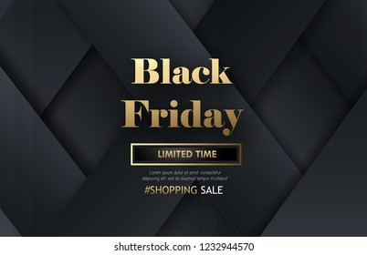 Black friday banner poster with glowing Black abstract design with beautiful calligraphy.