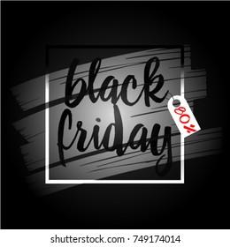 Black friday banner. Sale 80 off. Vector art