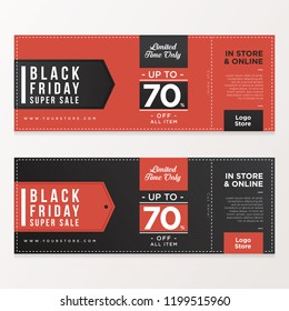 Black Friday Banner Sale With Coupon Style