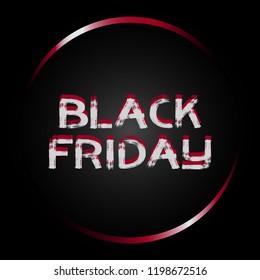 Black Friday banner. Black Friday sale inscription design template. Vector illustration EPS10