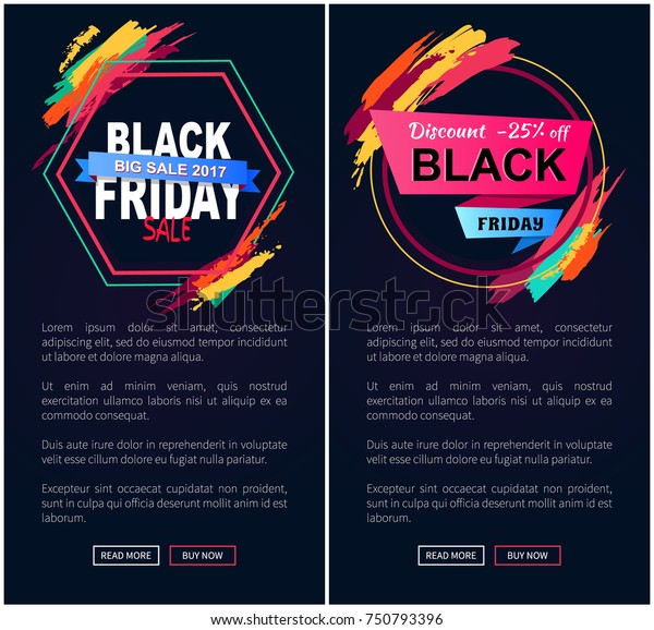 Black Friday Big Sale 2017 Discount Stock Vector Royalty Free 750793396