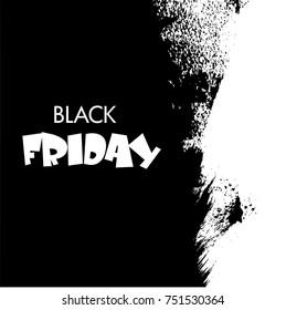 Black Friday, Big Sale, white ink splach
