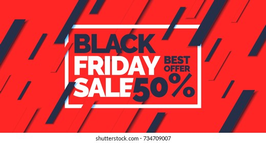 Black friday. Big sales. Trendy, modern poster to advertise your goods. Vector illustration.