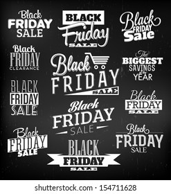 Black Friday Calligraphic Designs | Retro Style Elements | Vintage Ornaments | Sale, Clearance | Vector Set