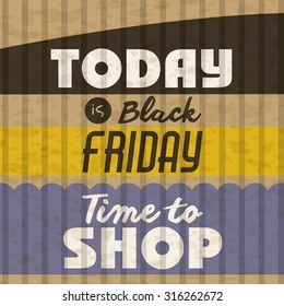 Black Friday concept with sale icons design, vector illustration eps 10