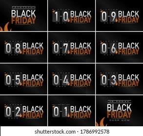 Black Friday, Countdown and Sale