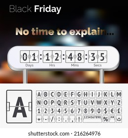 Black Friday countdown timer. No time to explain