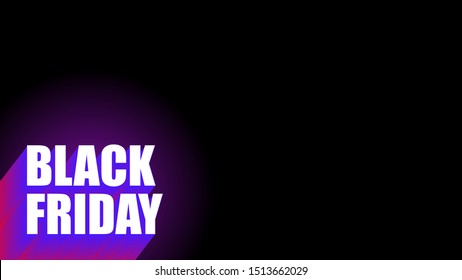 black friday cover video thumbnails vector