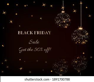 black friday discounts dark background