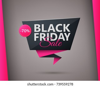 black friday discounts label template. Eps10