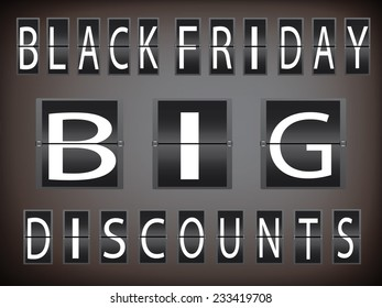 Black friday in giant discount, analog clock design,eps10